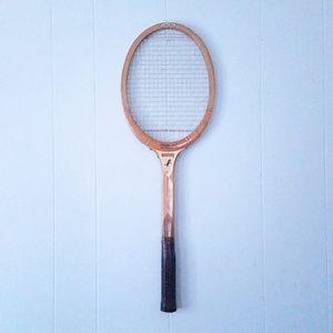 Vintage Home Decor Tennis Racket Antique